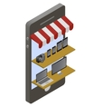 Isometric store online shopping vector image