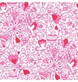 Love flowers seamless pattern background vector image