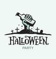 modern professional sign logo helloween vector image