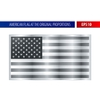 Silver American flag in a metallic frame vector image