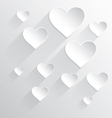 Valentines day card White heart vector image