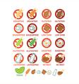 food ingridients vector image