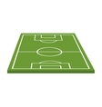 soccer field camp isolated icon vector image