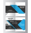 Brochure template Can be used for magazine cover vector image