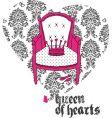 queen of hearts vector image