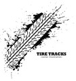 tire track impression on white background vector image