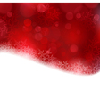 Red Christmas background with blurry lights vector image vector image