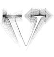 Sketch font Letter l vector image vector image
