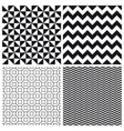 set patterns 3 vector image vector image
