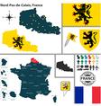 Map of Nord Pas de Calais vector image vector image