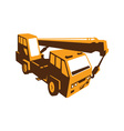 truck crane cartage hoist retro vector image vector image