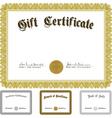 vector ornate award certificate set vector image vector image
