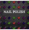 nail polish decorative cosmetics make up accessori vector image vector image
