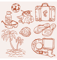 seaside doodles vector image vector image