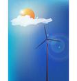 Modern windmill vector image
