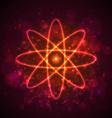 Shining neon lights atom model EPS10 vector image