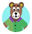 bear animal icon app vector image