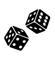 Black Dice Cubes on White Background vector image