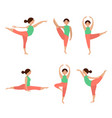flat icons set of yoga poses vector image