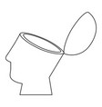 human head design vector image