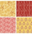 Leaf patterns collection vector image