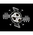Logo soccer league vector image
