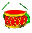 Music drum vector image