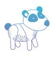 panda cartoon in degraded blue to purple color vector image