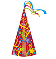 Party hat - birthday hat vector image