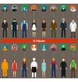 Profession people and avatars collection vector image
