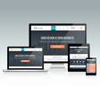 Responsive Website Design vector image