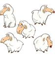 set of cute cartoon sheep vector image