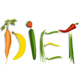 Diet sign vector image vector image