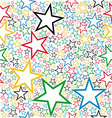 Multicolored stars seamless pattern vector image