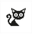 Cat - pixel design vector image