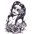 Day of Dead Girl 3 vector image