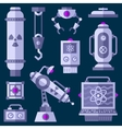 Flat laboratory game assets vector image