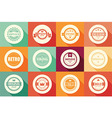 Collection of vintage retro labels badges ribbon vector image