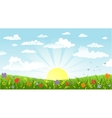 Countryside panorama in the morning vector image