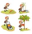 Set Ant Gardener vector image