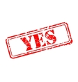 Yes rubber stamp vector image vector image
