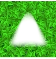 Green Leaves Pattern Evergreen Hedgegrow vector image