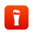 glass of beer icon digital red vector image