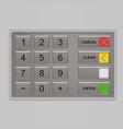 Keypad of automated teller machine vector image