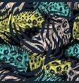 leo zebra animal print vector image