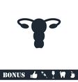 Ovaries icon flat vector image