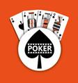 poker spade emblem casino cards fortune game vector image