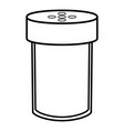 salt shaker icon outline style vector image