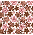 seamless floral pattern in doodle style vector image