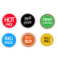 set of commercial sale stickers elements and vector image